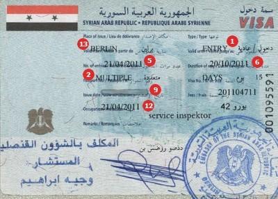 Visum Syrien